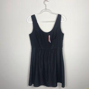 Vineyard Vines Black Sleeveless A Line Zip Dress